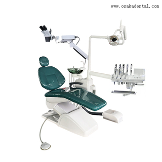 Chaise dentaire avec microscope dentaire